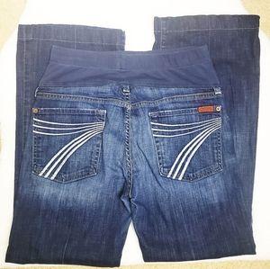 7 FOR ALL MANKIND | Maternity Dojo Wide Leg Jeans